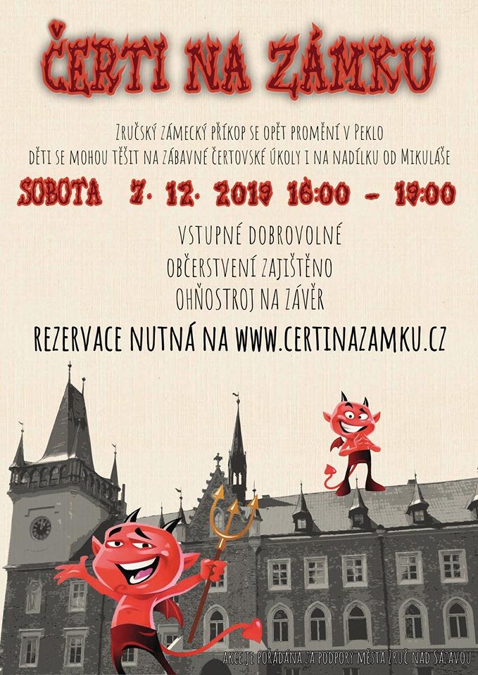Čerti na zámku 2019 - plakát